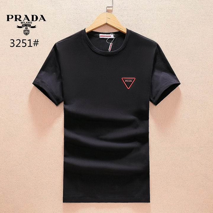 Wholesale Men Prada Short Sleeve t Shirts for Sale-178