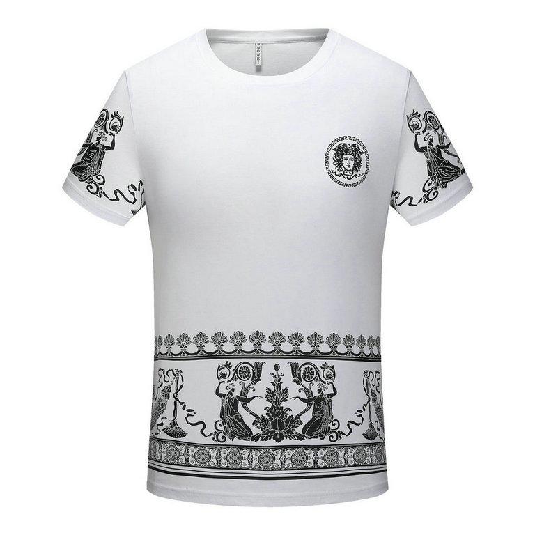 Wholesale Versace Men's Short Sleeve Round Collar T Shirts