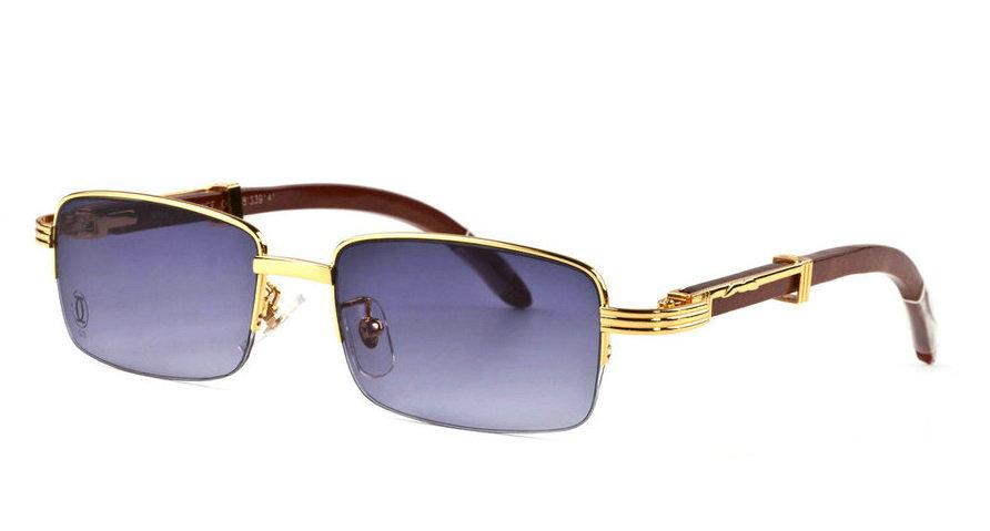 Wholesale Cheap Cartier Wood Frame Sunglasses Replica for Sale-183