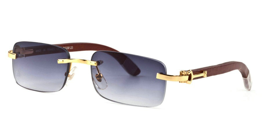 Wholesale Cheap Fake Cartier Wooden Eyeglass Frames for Sale-186