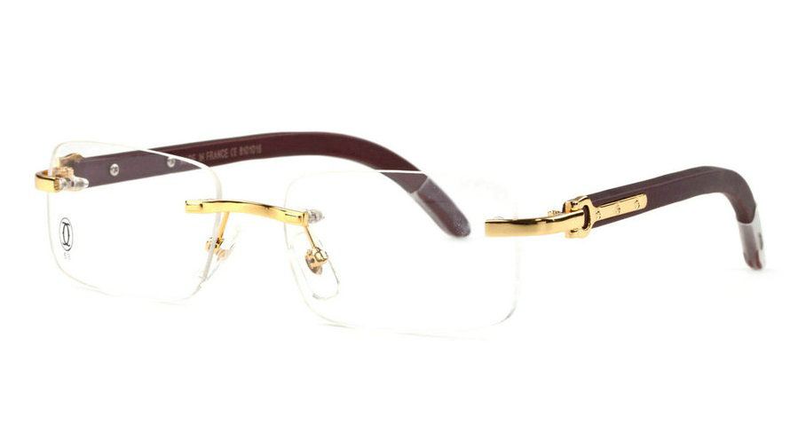 Wholesale Cheap Fake Cartier Wooden Eyeglass Frames for Sale-188