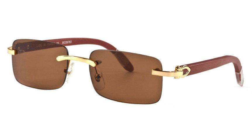 Wholesale Cheap Fake Cartier Wooden Eyeglass Frames for Sale-189
