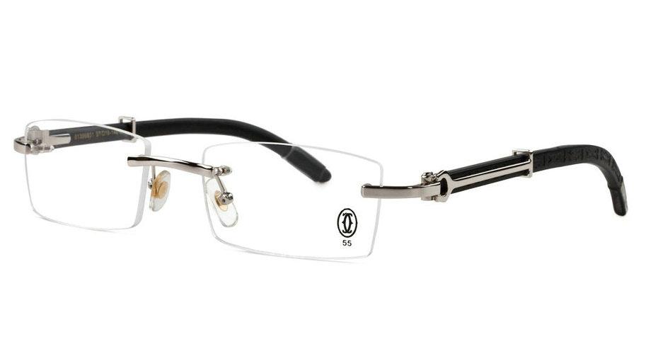Wholesale Cheap Fake Cartier Wooden Eyeglass Frames for Sale-191