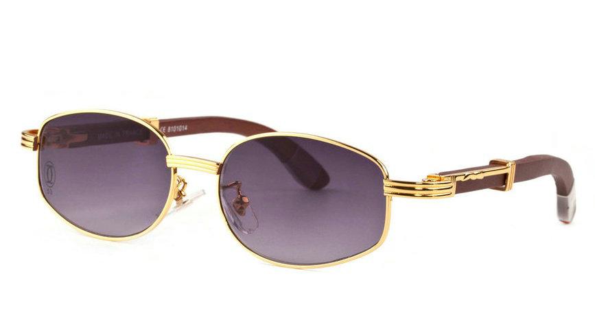 Wholesale Cheap Fake Cartier Wooden Eyeglass Frames for Sale-194