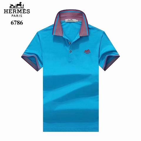 Wholesale Hermes Short Sleeve Lapel t shirts For Sale-038