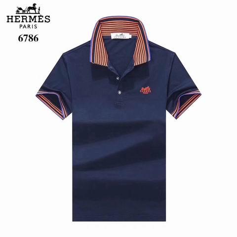 Wholesale Hermes Short Sleeve Lapel t shirts For Sale-039