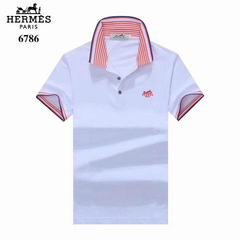 Wholesale Hermes Short Sleeve Lapel t shirts For Sale-040