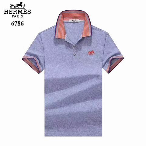 Wholesale Hermes Short Sleeve Lapel t shirts For Sale-041
