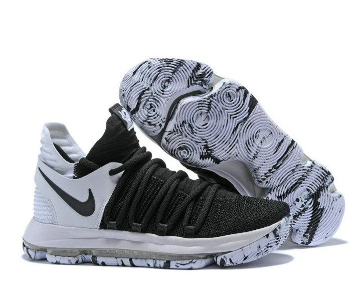 "Wholesale Cheap Kevin Durant KD 10 ""Black/White"" Replica Sneaker for Sale-137"